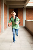 School student running Royalty Free Stock Images