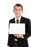 School student with sign Royalty Free Stock Images