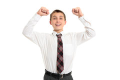 School student victory success Stock Images