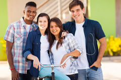 School students outdoors stock photography