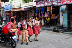 The school students of udaipur Stock Images