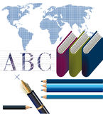 School study. Learning, lesson literary Royalty Free Stock Image