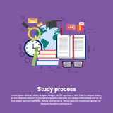 School Study Process University Education Web Banner Stock Photos