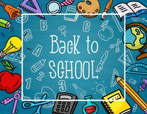School stuffs Royalty Free Stock Images