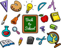 School stuffs Royalty Free Stock Photos