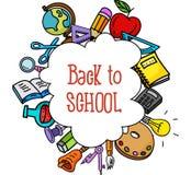 School stuffs. Illustration of School stuffs isolated on white Stock Photo