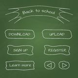 School-style web buttons Stock Image