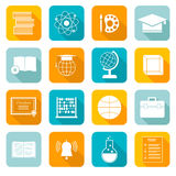 School Subject Icons royalty free illustration