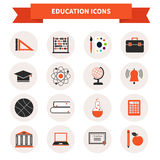 School Subject Icons Stock Photography