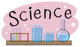 School subject for science with many equipments in lab royalty free illustration