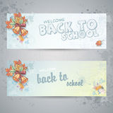 School subjects and autumn leaves Stock Photos