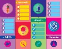 School subjects bookmarker Stock Image