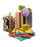 School subjects and flowers Royalty Free Stock Photography