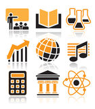 Science and education icons Stock Photo