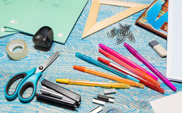 School subjects for a lesson Stock Photo