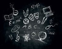 School subjects pictures Stock Image