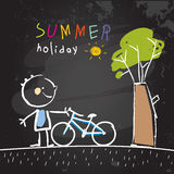 School Summer vacation Royalty Free Stock Image