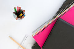 School suplies. Back to school. Stationery isolated on white Royalty Free Stock Photography