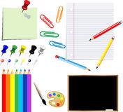 School supplies. On white background Royalty Free Stock Images