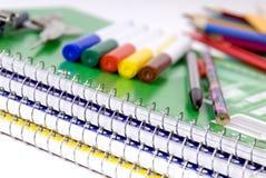 School Supplies 3. School supplies await the first day of class stock image