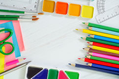 School supplies Stock Photography