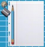 School supplies. Binder sheet background Stock Image