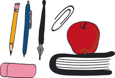 School supplies. Draw of some school supplies Stock Photography