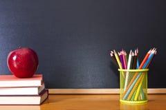 School supplies. Back to school, school supplies on the desktop Stock Image