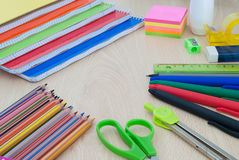 School supplies for back to school Royalty Free Stock Images