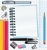 School supplies background. Colorful material Royalty Free Stock Photography