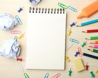 School supplies background Stock Photos