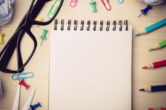 School supplies background Royalty Free Stock Photos