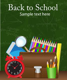 School supplies on the background Royalty Free Stock Image