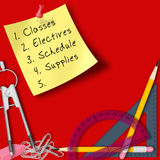School Supplies Background Royalty Free Stock Image