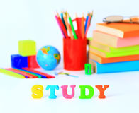 School supplies background Royalty Free Stock Images
