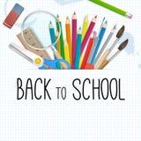 School supplies  background Stock Photos