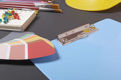School supplies on a black background Royalty Free Stock Photo