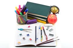 School supplies and books Royalty Free Stock Images