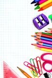 School supplies border Stock Photo