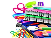 School supplies border Royalty Free Stock Photography