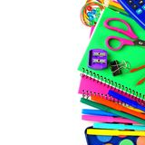 School supplies border Royalty Free Stock Photo