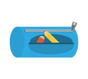 School supplies case isolated icon. Vector illustration design Royalty Free Stock Photos