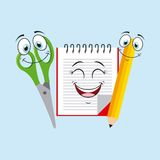 School Supplies characters design Royalty Free Stock Photos