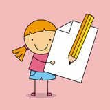 School Supplies characters design Stock Photos