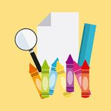 School Supplies characters design Stock Photo