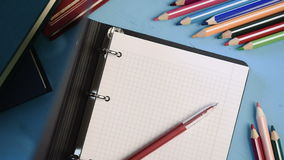 School supplies stock video footage