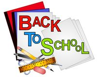 School Supplies Clip Art 4 Royalty Free Stock Photo