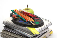 School supplies close-up Stock Photography