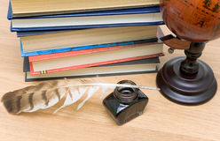 School supplies close-up. horizontal photo. Stock Photography