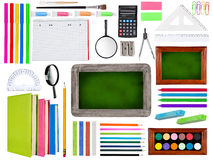 School supplies collection Stock Photo